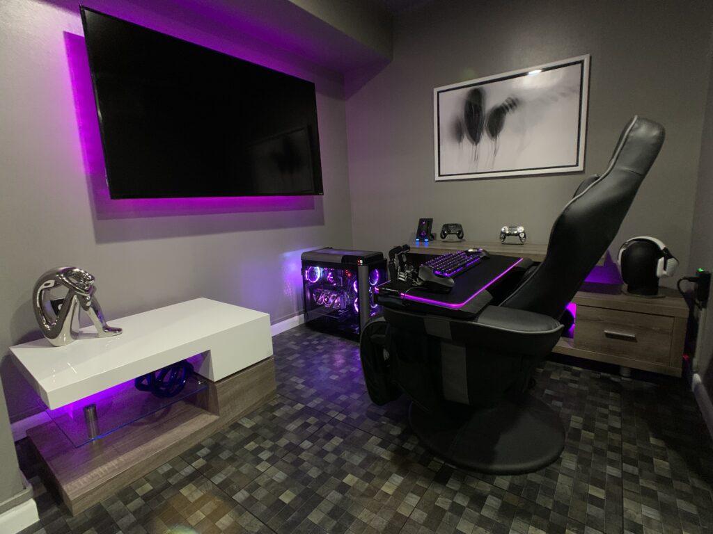 TV gaming setup