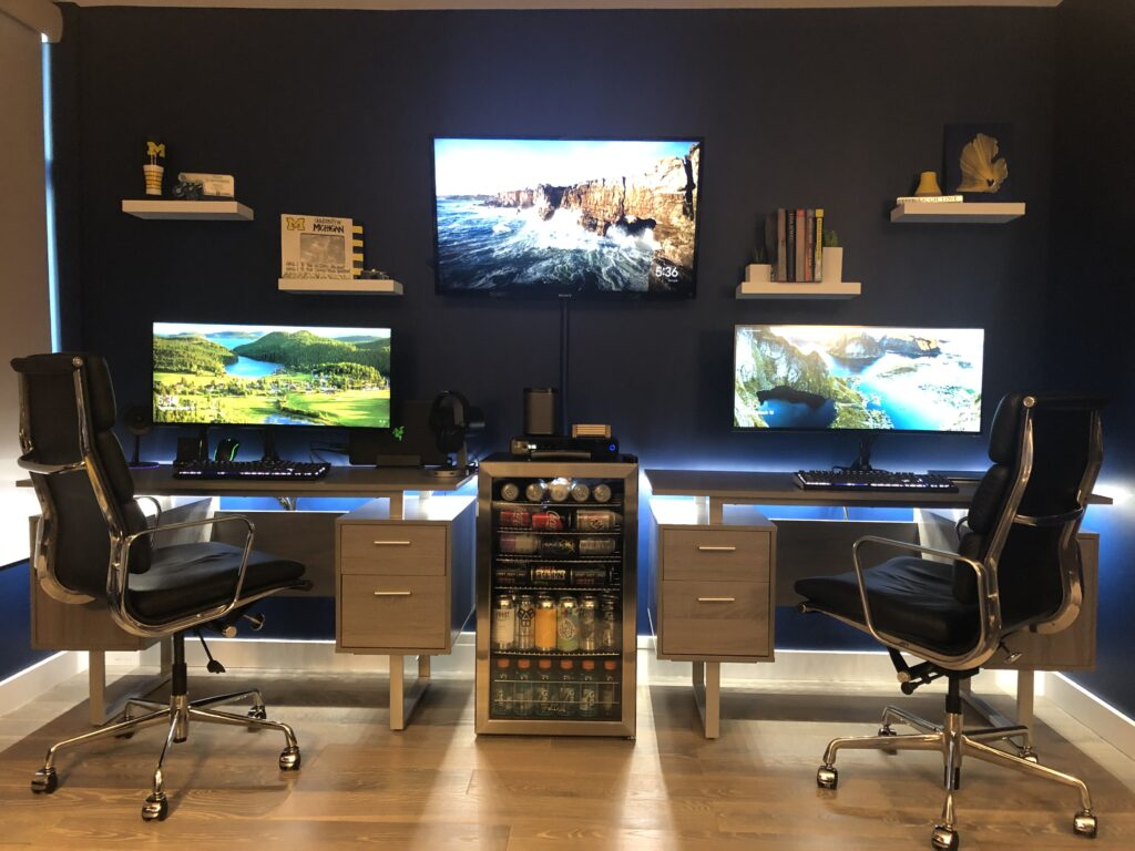 Gaming setup for two