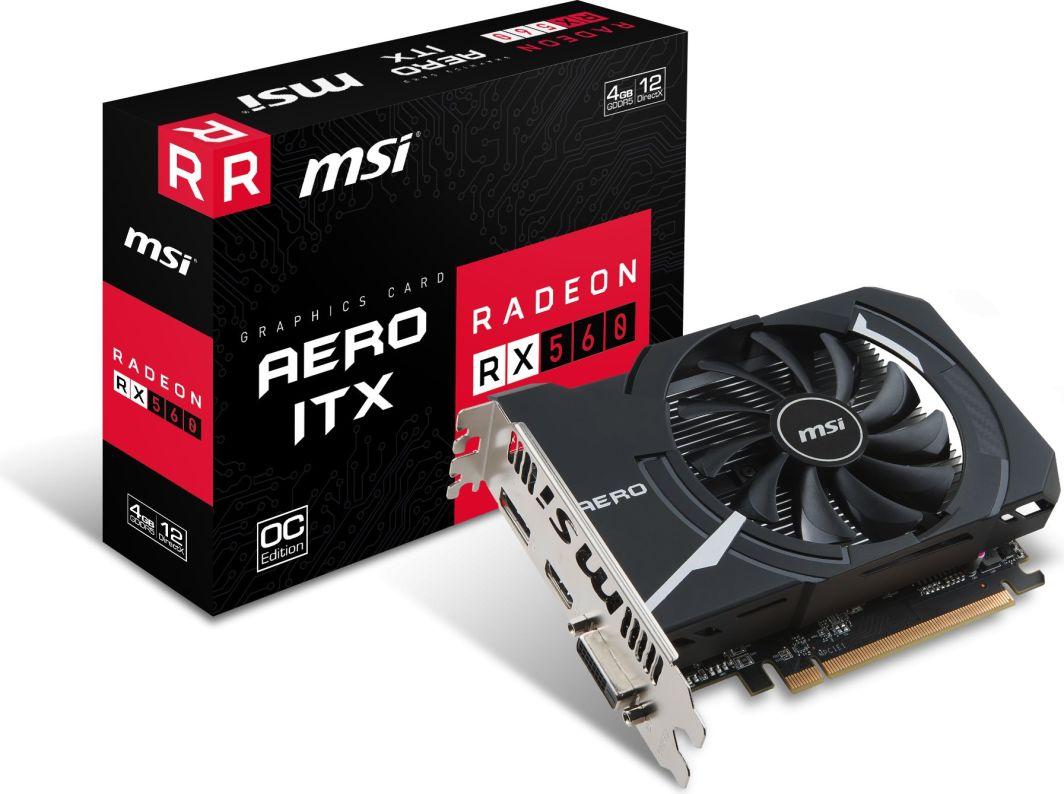 MSI Gaming Radeon RX 560 Aero ITX 4G OC
